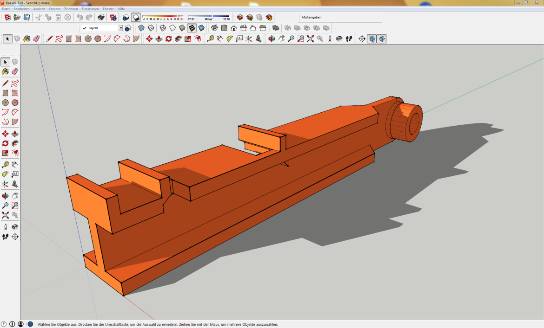Konstruktion des Ersatzteils in SketchUp