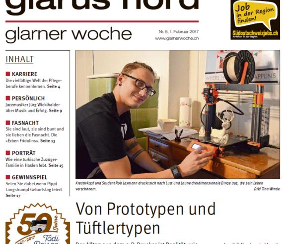 Bildausschnitt Titelseite der Glaerner Woche Nord